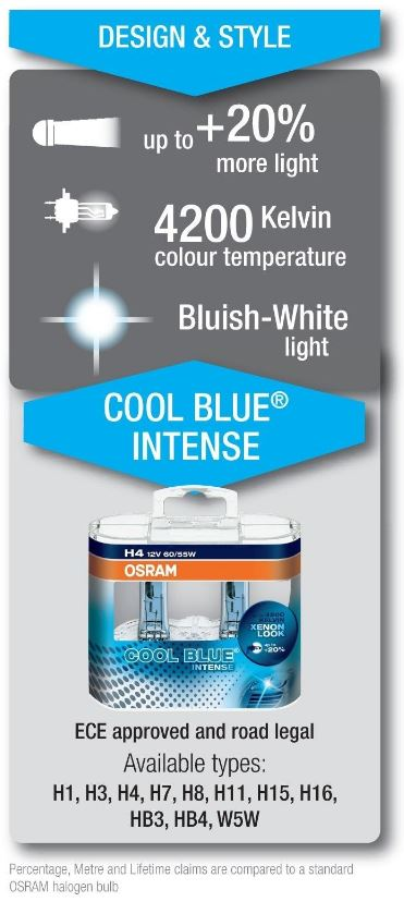 cool blue intense feature OSRAM