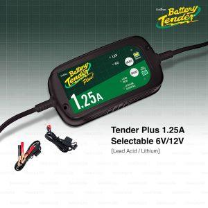 BATTERY TENDER เครื่องชาร์จแบตเตอรี่ รถยนต์ มอเตอร์ไซค์ Car/ Motorcycle Battery Charger รุ่น TENDER PLUS 1.25A SELECTABLE