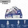 หัวเทียน NGK BPR7EIX ขั้ว Iridium ใช้สำหรับ BMW Dakar, Yamaha SR250, SR500 (1 หัว) - Made in Japan