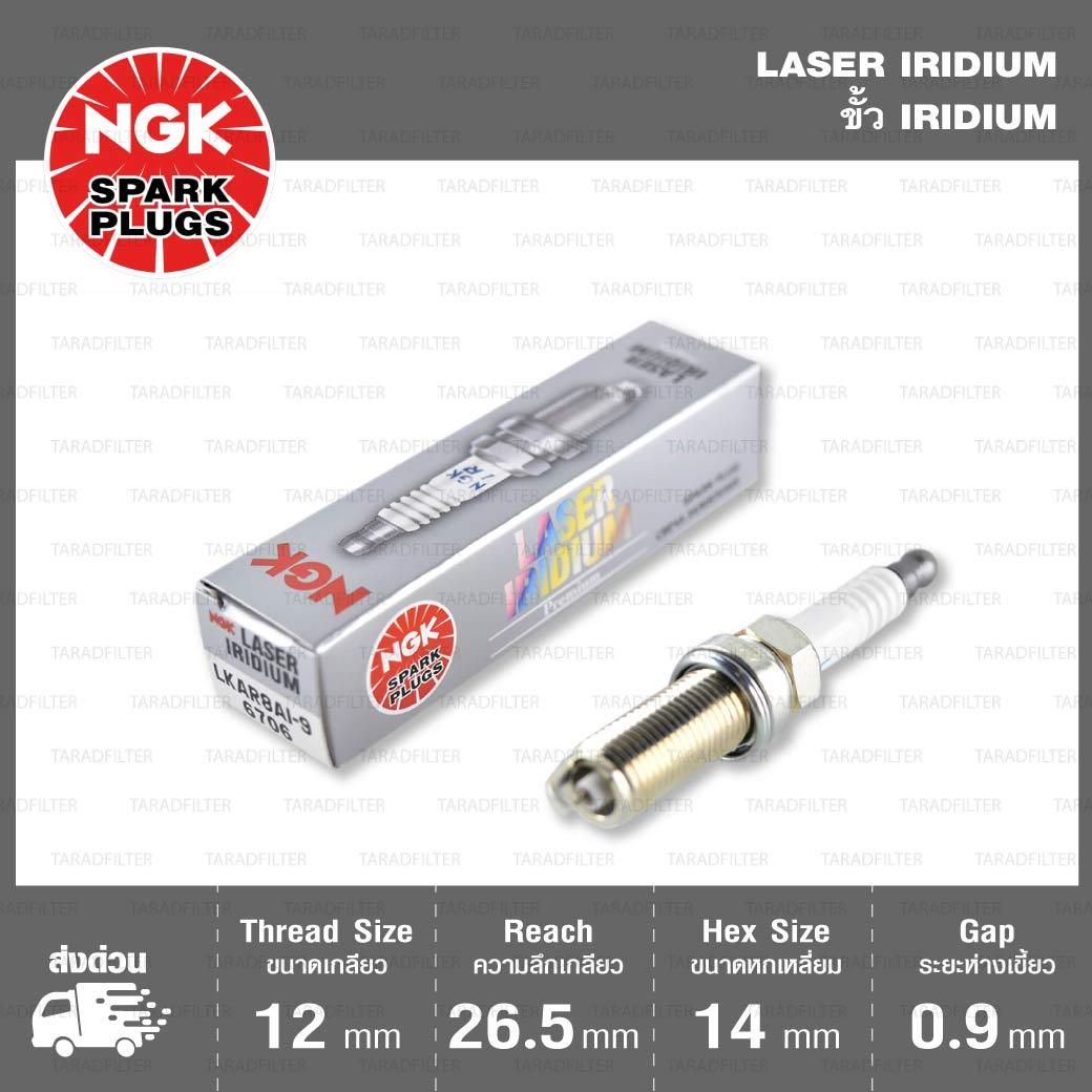 หัวเทียน LKAR8AI-9ขั้ว Iridium ใช้สำหรับ KTM Duke200, RC200, Duke390, Duke690, Enduro690