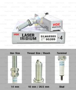 NGK หัวเทียน Laser Iridium ขั้ว Iridium ติดรถ SILMAR9B9 ใช้สำหรับมอเตอร์ไซค์ Kawasaki ZX-10 ปี 2016 ขึ้นไป และ Ninja H2, H2R (1 หัว) - Made in Japan