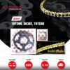 JOMTHAI ชุดโซ่-สเตอร์ BENELLI TNT300 / BN302 / TNT600 / BN600i | โซ่ X-ring สีทอง และ สเตอร์สีดำ [14/44]