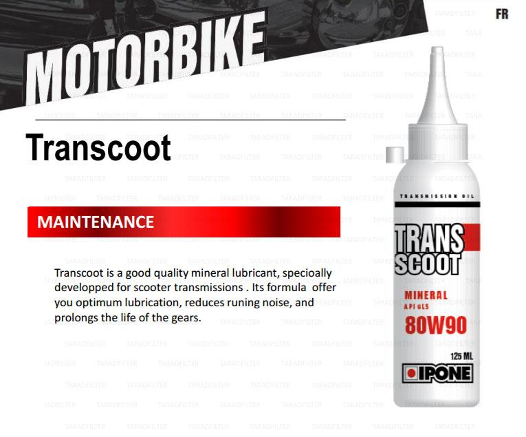 น้ำมันเฟืองท้าย เวสป้า ipone 80w-90 trans scoot