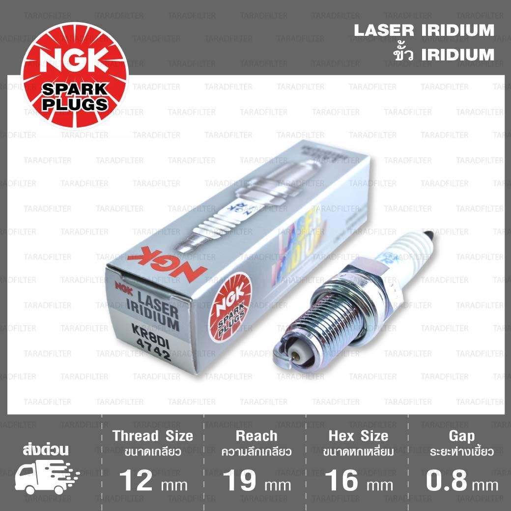 หัวเทียน NGK KR8DI ขั้ว Iridium ใช้สำหรับ KTM 990 Super Duke, 990 Supermoto
