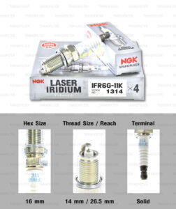 NGK หัวเทียน LASER IRIDIUM IFR6G-11K ใช้สำหรับ มอเตอร์ไซค์ บิ๊กไบค์ Honda NC750X / X-ADV (1 หัว) - Made in Japan