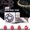 JOMTHAI ชุดโซ่-สเตอร์ BENELLI TNT300 / BN302 / TNT600 / BN600i   โซ่ ZX-ring สีทอง และ สเตอร์สีดำ [14/45]