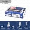 หัวเทียน NGK BPR8EIX ขั้ว Iridium ใช้สำหรับ VICTOR, RX-Z, AKIRA,VR150 (1 หัว) - Made in Japan