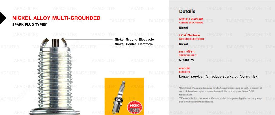 NGK-multiground หัวเทียนหลายเขี้ยว