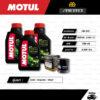 FULL MOTO ชุดถ่ายน้ำมันเครื่องกึ่งสังเคราะห์ MOTUL 5100 4T [ 10w-40 ] ใช้สำหรับ มอเตอร์ไซค์ Kawasaki Z300 / Ninja300 / W650