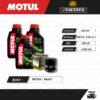FULL MOTO ชุดถ่ายน้ำมันเครื่องกึ่งสังเคราะห์ MOTUL 5100 4T [ 10w-40 ] ใช้สำหรับ มอเตอร์ไซค์ Benelli TNT300 / BN302