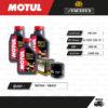 FULL MOTO ชุดถ่ายน้ำมันเครื่องสังเคราะห์แท้ MOTUL H-TECH 100 4T [ 10w-40 ] ใช้สำหรับ มอเตอร์ไซค์ Benelli TNT300 / BN302
