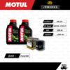 FULL MOTO ชุดถ่ายน้ำมันเครื่องกึ่งสังเคราะห์ MOTUL 5100 4T [ 10w-40 ] ใช้สำหรับ มอเตอร์ไซค์ Honda Forza300