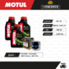 FULL MOTO ชุดถ่ายน้ำมันเครื่องกึ่งสังเคราะห์ MOTUL 5100 4T [ 10w-40 ] ใช้สำหรับ มอเตอร์ไซค์ Suzuki GSX-R600 / V-Strom650 / SV650 Gladius / GSX-R750