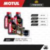 FULL MOTO ชุดถ่ายน้ำมันเครื่องสังเคราะห์แท้ MOTUL H-TECH 100 4T [ 10w-40 ] ใช้สำหรับ มอเตอร์ไซค์ Suzuki GSX-R600 / V-Strom650 / SV650 Gladius / GSX-R750