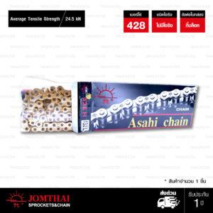 โซ่ JOMTHAI ASAHI Heavy Duty 428-132 ข้อ สีทอง-ทอง
