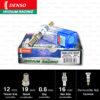หัวเทียน DENSO IXU01-27 ขั้ว Iridium Racing (1 หัว)
