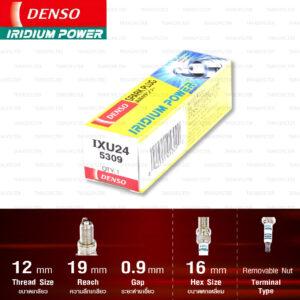 หัวเทียน DENSO IXU24 ขั้ว Iridium