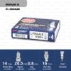 หัวเทียน NGK LFR6AIX ขั้ว Iridium ใช้สำหรับToyota Fortuner 2.7L (1 หัว) - Made in Japan