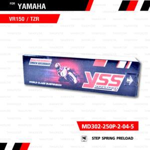 YSS โช๊คอัพหลัง Yamaha VR150 / TZR【 MD302-250P-2-04-5】แดงดำสปริงแดง [ โช๊ค YSS แท้ ประกันโรงงาน 6 เดือน ]