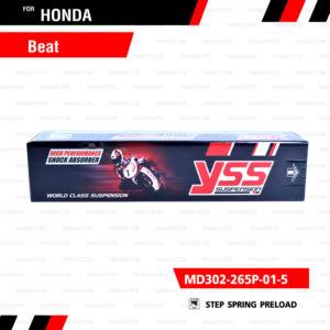 YSS โช๊คอัพหลัง Honda Beat【 MD302-265P-01-5】แกนดำสปริงแดง [ โช๊ค YSS แท้ ประกันโรงงาน 6 เดือน ]