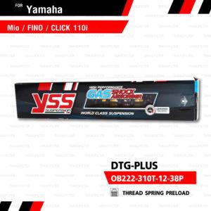 YSS โช๊คแก๊ส DTG PLUS ใช้อัพเกรด Mio Fino Filano Click110【 OB222-310T-12-38P】 โช้คอัพแก๊สกระบอก 2 ชั้น แกนทองสปริงดำ [ โช๊ค YSS แท้ ประกันโรงงาน 6 เดือน ]