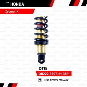 YSS โช๊คแก๊ส DTG ใช้อัพเกรดสำหรับ Honda Zoomer-X【 OB222-330T-11-38P】 โช้คอัพแก๊สกระบอก 2 ชั้น แกนทองสปริงดำ [ โช๊ค YSS แท้ ประกันโรงงาน 6 เดือน ]