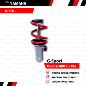 YSS โช๊คแก๊ส G-Sport ใช้อัพเกรดสำหรับ Yamaha GT125【 OG302-300TRL-19-J 】 [ โช๊ค YSS แท้ 100% พร้อมประกันศูนย์ 6 เดือน ️]