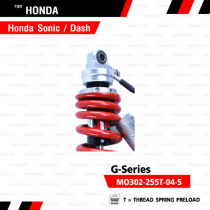 YSS โช๊คแก๊ส G-Series ใช้อัพเกรดสำหรับ Honda Sonic / Dash 【 MO302-255T-04-5】
