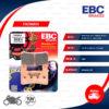 EBC ผ้าเบรกหน้ารุ่น Sintered HH ใช้สำหรับรถ CB400 Super Four / CBR600 '99-'04 / CB1300 '03-'12 / Ninja ZX-6R [F] [ FA296HH ]