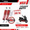 YSS โช๊คแก๊ส Heavy Duty for G-Sport ใช้อัพเกรดสำหรับ Honda PCX 150 ปี 2018 ขึ้นไป【 TG302-350TRL-09-J 】 โช๊คคู่หลังสปริงแดง/กระบอกเงิน [ โช๊ค YSS แท้ 100% พร้อมประกันศูนย์ 1 ปี ]