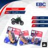 EBC ชุดผ้าเบรคหน้า-หลัง รุ่น Sintered HH ใช้สำหรับรถ Kawasaki รุ่น Er-6n , Er-6F , Versys650 '07-'14 [ FA229HH-FA231HH-FA192HH ]