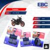 EBC ชุดผ้าเบรคหน้า-หลัง รุ่น Organic ใช้สำหรับรถ Yamaha รุ่น MT-07 MT-09 [ FA252-FA252-FA174 ]