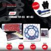 JOMTHAI ชุดโซ่-สเตอร์ Pro Series โซ่ X-ring (ASMX) สีแดง และ สเตอร์สีดำ ใช้สำหรับมอเตอร์ไซค์ Yamaha YZF-R3 / MT-03 [14/43]