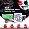 JOMTHAI ชุดโซ่-สเตอร์ Pro Series โซ่ X-ring (ASMX) สีเขียว และ สเตอร์สีดำ ใช้สำหรับมอเตอร์ไซค์ Kawasaki ER6N / Ninja650 / Versys650 / ER6F [15/46]