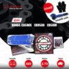 JOMTHAI ชุดโซ่-สเตอร์ Pro Series โซ่ X-ring (ASMX) โซ่สีน้ำเงิน และ สเตอร์สีดำ ใช้สำหรับมอเตอร์ไซค์ Honda CB500X / CBR500 / CB500F [15/41]