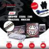 JOMTHAI ชุดโซ่-สเตอร์ Pro Series โซ่ X-ring (ASMX) สีดำ-หมุดทอง และ สเตอร์สีดำ ใช้สำหรับมอเตอร์ไซค์ Kawasaki Ninja250 SL / Z250 SL / Z300 / Ninja300 / Ninja400 [14/42]