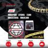 JOMTHAI ชุดโซ่-สเตอร์ Pro Series โซ่ ZX-ring (ZSMX) สีทอง และ สเตอร์สีดำ ใช้สำหรับมอเตอร์ไซค์ Kawasaki Ninja250 SL / Z250 SL / Z300 / Ninja300 / Ninja400 [14/42]