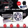 JOMTHAI ชุดโซ่-สเตอร์ โซ่ X-ring (ASMX) สีดำหมุดทอง และ สเตอร์สีดำ ใช้สำหรับมอเตอร์ไซค์ Yamaha รุ่น YZF-R15 ตัวเก่า, M-Slaz และ Exciter150 [15/47]
