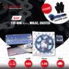 JOMTHAI ชุดโซ่-สเตอร์ โซ่ X-ring (ASMX) สีน้ำเงิน และ สเตอร์สีดำ ใช้สำหรับมอเตอร์ไซค์ Yamaha รุ่น YZF-R15 ตัวเก่า, M-Slaz และ Exciter150 [15/49]