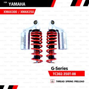 YSS โช๊คแก๊ส G-Series ใช้อัพเกรดสำหรับ XMAX 300【 TC302-350T-08 】 โช๊คคู่หลังสำหรับมอเตอร์ไซค์ สปริงแดง/กระบอกทอง [ โช๊ค YSS แท้ 100% พร้อมประกันศูนย์ 6 เดือน ]