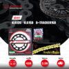 JOMTHAI ชุดโซ่-สเตอร์ Pro Series โซ่ X-ring สีเหล็กติดรถ และ สเตอร์สีดำ ใช้สำหรับ KLX125 / KLX150 / D-tracker125 [14/47]