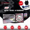JOMTHAI ชุดโซ่-สเตอร์ Pro Series โซ่ X-ring สีดำหมุดทอง และ สเตอร์สีดำ ใช้สำหรับ KLX125 / KLX150 / D-tracker125 [14/49]