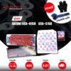 JOMTHAI ชุดโซ่-สเตอร์ โซ่ X-ring (ASMX) สีแดง และ สเตอร์สีเหล็กติดรถ ใช้สำหรับมอเตอร์ไซค์ Suzuki GSX-R150 / GSX-S150 [14/45]