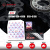 JOMTHAI ชุดโซ่-สเตอร์ โซ่ Heavy Duty (HDR) สีเหล็กติดรถ และ สเตอร์สีเหล็กติดรถ ใช้สำหรับมอเตอร์ไซค์ Suzuki GSX-R150 / GSX-S150 [14/45]