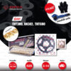 Jomthai ชุดเปลี่ยนโซ่-สเตอร์ โซ่ X-ring (ASMX) สีทอง-หมุดทอง และ สเตอร์สีดำ เปลี่ยนมอเตอร์ไซค์ BENELLI TNT300 / BN302 / TNT600 / BN600i [14/44]