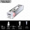 หัวเทียน NGK BUR9EQ ขั้ว Nickel Surface Gap Plug ใช้สำหรับ Mazda RX-7 (1 หัว) – Made in Japan