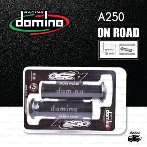 DOMINO MANOPOLE GRIP ปลอกแฮนด์ รุ่น A250 สีดำ-เทา ใช้สำหรับรถมอเตอร์ไซค์ [ 1 คู่ ]