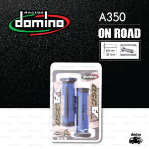 DOMINO MANOPOLE GRIP ปลอกแฮนด์ รุ่น A350 สีน้ำเงิน-ดำ ใช้สำหรับรถมอเตอร์ไซค์ [ 1 คู่ ]