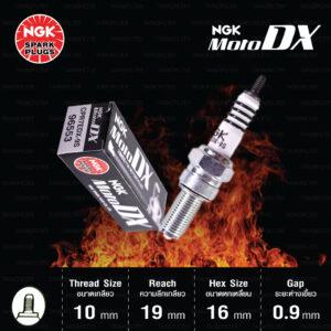 NGK หัวเทียน MotoDX ขั้ว Ruthenium CPR7EDX-9S [ ใช้อัพเกรด CPR7EA-9 ] - Made in Japan