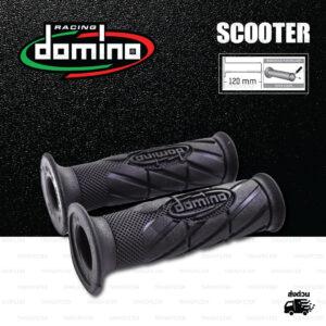 DOMINO MANOPOLE GRIP ปลอกแฮนด์ รุ่น Racing Classic Black สีดำล้วน ใช้สำหรับรถมอเตอร์ไซค์ [ 1 คู่ ]